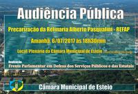 Precarização na Refinaria Alberto Pasqualini  será tema de audiência pública amanhã