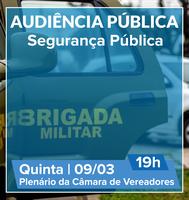 Audiência pública vai tratar sobre a segurança em Esteio hoje, 9