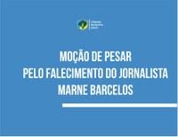 Câmara aprova moção de pesar pelo falecimento do jornalista Marne Barcelos