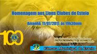 Centenário do Lions Internacional será comemorado pela Câmara de Esteio amanhã