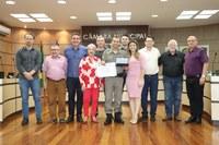 Coordenador do PROERD em Esteio é homenageado na Câmara de Vereadores