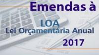 Encerra-se hoje prazo para apresentação de emendas parlamentares ao orçamento de 2017