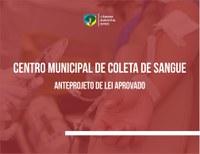 Mário Couto sugere instituir Centro Municipal de Doação de Sangue