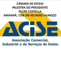 Presidente da Câmara de Esteio palestra na Acise amanhã